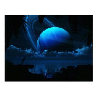 Cartão tropical da lua
