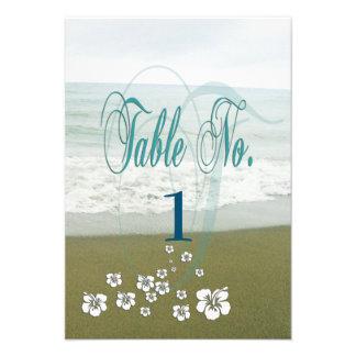 Cartão tropical da mesa do casamento de praia convite 9.52 x 12.7cm
