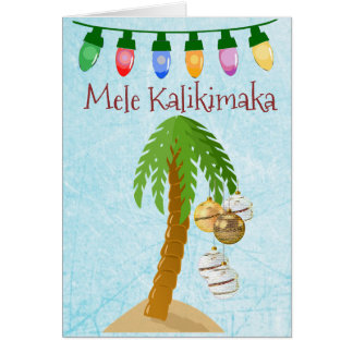 Cartão tropical da palmeira do Natal de Mele
