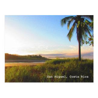 Cartão tropical da praia de Costa Rica San Miguel Cartão Postal