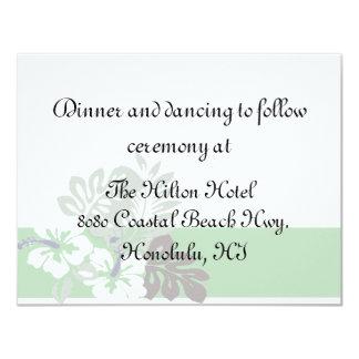 Cartão tropical da recepção convite personalizado