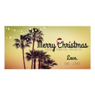 Cartão tropical do feriado do Natal Cartão Com Foto