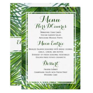 Cartão tropical do menu do casamento das convite 12.7 x 17.78cm