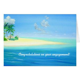 Cartão tropical do noivado da praia de Maldives