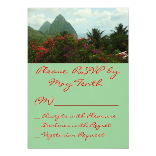 Cartão tropical do paraíso RSVP Convites Personalizado