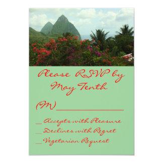 Cartão tropical do paraíso RSVP Convite 12.7 X 17.78cm