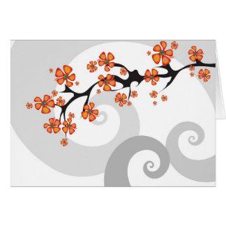 Cartão tropical do redemoinho da fusão da flor
