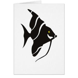 Cartão tropical dos peixes