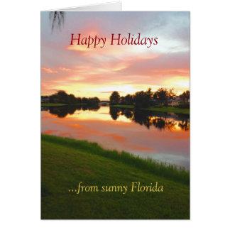 Cartão tropical feito sob encomenda do Xmas de