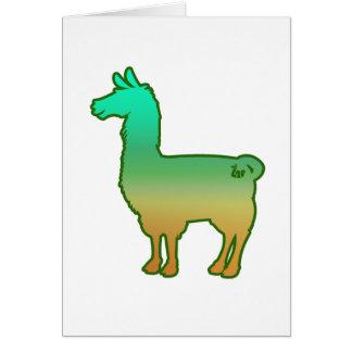 Cartão tropical verde do lama
