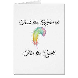 Cartão Troque o teclado para o Quill