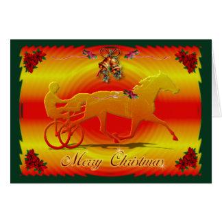 Cartão Trotador vermelho do Natal