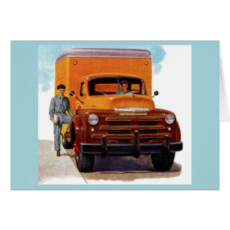 Cartão truckin dos camionistas do caminhão