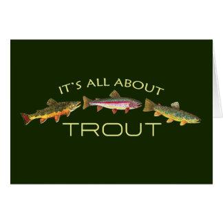Cartão Truta ávida Fishermans