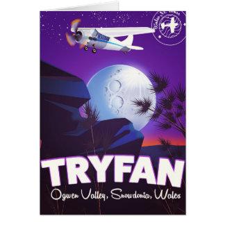 Cartão Tryfan, vale de Ogwen, Snowdonia, Wales