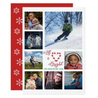 Cartão Tudo é colagem brilhante da foto do coração do