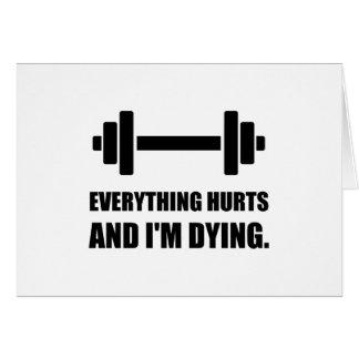 Cartão Tudo fere o exercício de morte