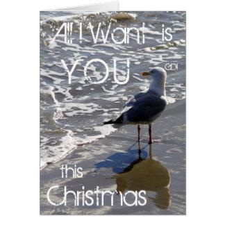 Cartão Tudo I Want é VOCÊ este Natal