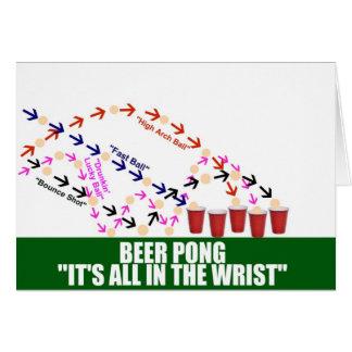 Cartão Tudo na cerveja Pong do pulso