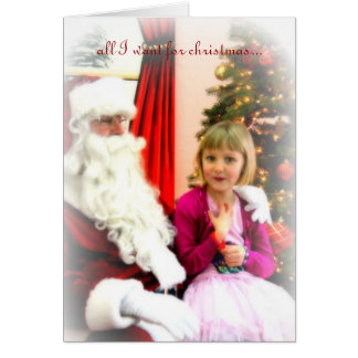 Cartão tudo que eu quero para o Natal