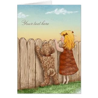 Cartão Tudo que você precisa é amor… e um cão