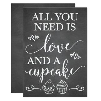 Cartão Tudo que você precisa é amor e um sinal do