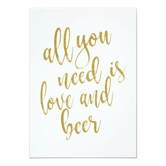 Cartão Tudo que você precisa é sinal do barato do amor e