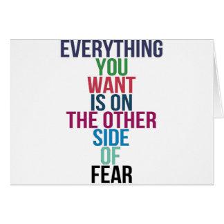 Cartão Tudo você Want está no outro lado do medo