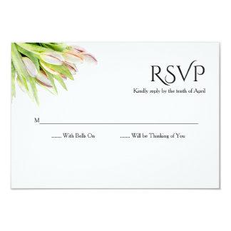 Cartão Tulipa, aguarela, rsvp wedding