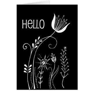 Cartão tulipa & co