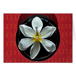 Cartão Tulipa de flutuação