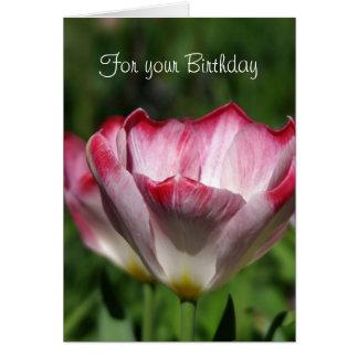 Cartão Tulipa do aniversário