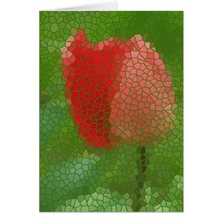 Cartão Tulipa do vidro colorido