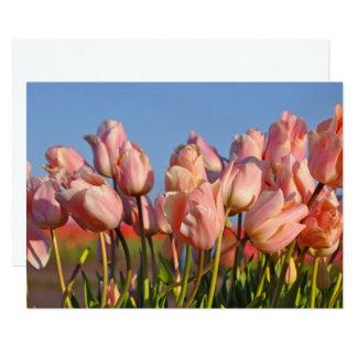 Cartão Tulipas cor-de-rosa do primavera