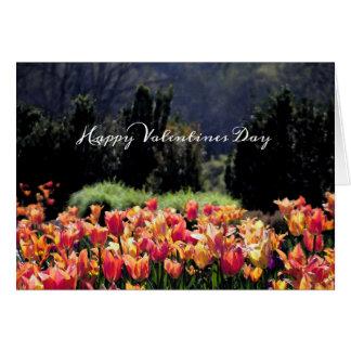 Cartão Tulipas da aguarela para o dia dos namorados