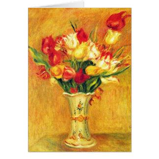 Cartão Tulipas por Pierre Renoir, arte do impressionismo
