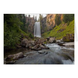 Cartão Tumalo majestoso cai em Oregon central EUA