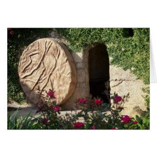 Cartão Túmulo da arte cristã aumentada cristo de Jesus