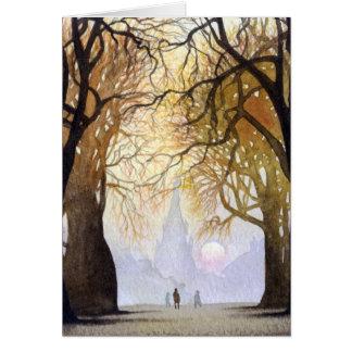 Cartão Túnel da árvore do inverno