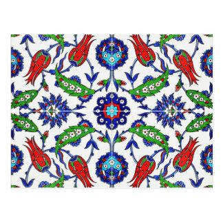 cartão turco das tulipas