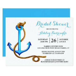 Cartão Turquesa náutica do azul da âncora do navio do chá