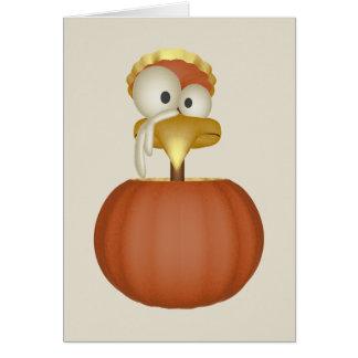 Cartão Turquia em uma abóbora