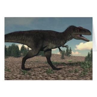Cartão Tyrannotitan - 3D rendem