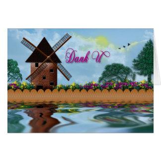 Cartão U húmido - Dutch (obrigado você)