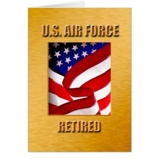 Cartão U.S.A.F. aposentado