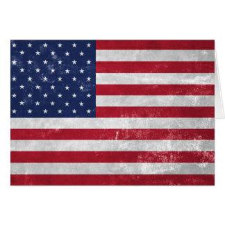 Cartão U.S. Bandeira