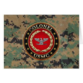 Cartão U.S. Fuzileiros navais: Coronel (Col) do USMC [3D]