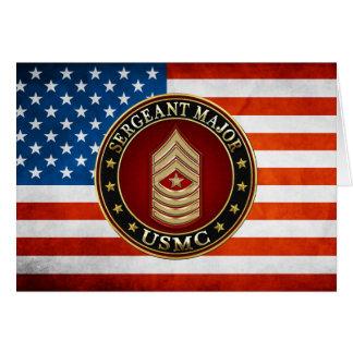 Cartão U.S. Fuzileiros navais: Sargento major (USMC