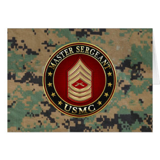 Cartão U.S. Fuzileiros navais: Sargento mestre (USMC