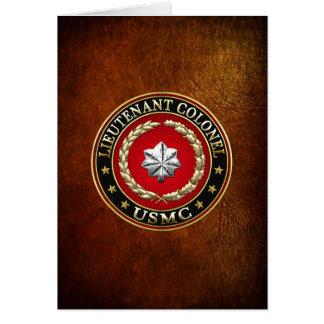 Cartão U.S. Fuzileiros navais: Tenente Coronel (USMC